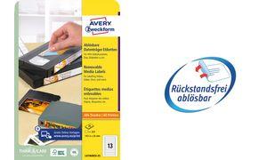 AVERY Zweckform Stick+Lift Etiketten, 78,7 x 46,6 mm, wei?