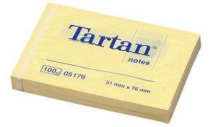 Tartan Notes Haftnotizen, 51 x 76 mm, hellgelb,