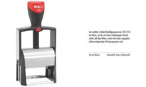 COLOP Textstempel Classic 2600, 8-zeilig, konfigurierbar
