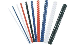 Fellowes Plastikbinderücken, DIN A4, 21 Ringe, 10 mm, weiß