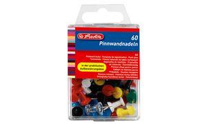 herlitz Pinnwand-Nadeln, farbig sortiert, Inhalt: 400 Stück