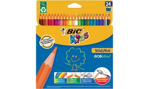 BIC KIDS Buntstifte Evolution ecolutions, 24er Kartonetui