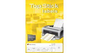 TOP STICK Universal-Etiketten, 105 x 48 mm, weiß, 100 Blatt