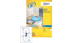 AVERY Etiquette CD, diamètre: 117 mm, blanc, qualité photo
