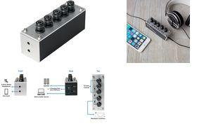 LogiLink Kopfhörer-Verstärker & Tri-Tone-Equalizer-Steuerung