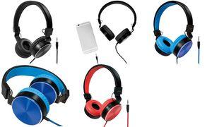 LogiLink Stereo Kopfhörer, faltbar, schwarz